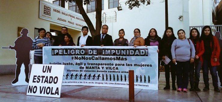 Perú: exigen justicia por las víctimas de violencia sexual en el juicio de Manta y Vilca