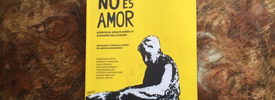 """""""No es amor"""": un libro para reflexionar sobre las tareas del cuidado"""