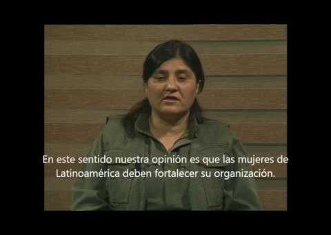 El saludo de las Mujeres de Kurdistán para Latinoamérica de cara al #8M