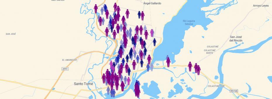 Un mapa de los femicidios de Santa Fe